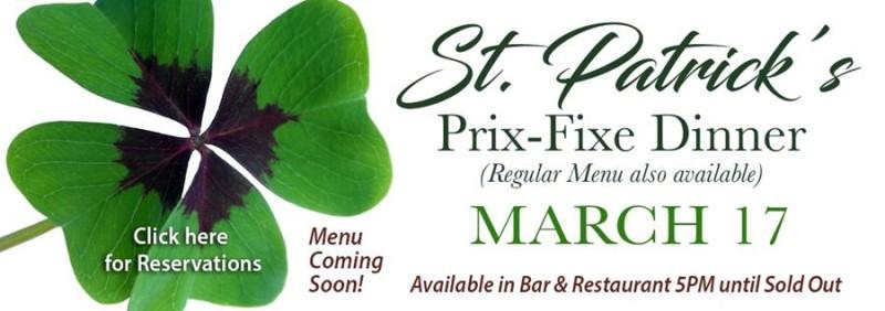 St. Patrick's Prix-Fixe Dinner