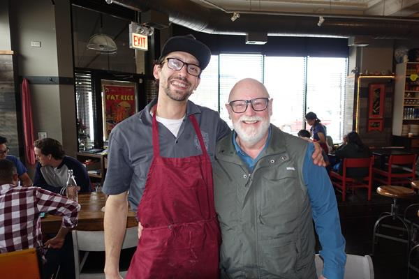 During a recent trip to Chicago, Gary had lunch with friends at Fat Rice. Here he is with Chef Conlon who will be visiting Carpe Vino to sign his new cookbook.
