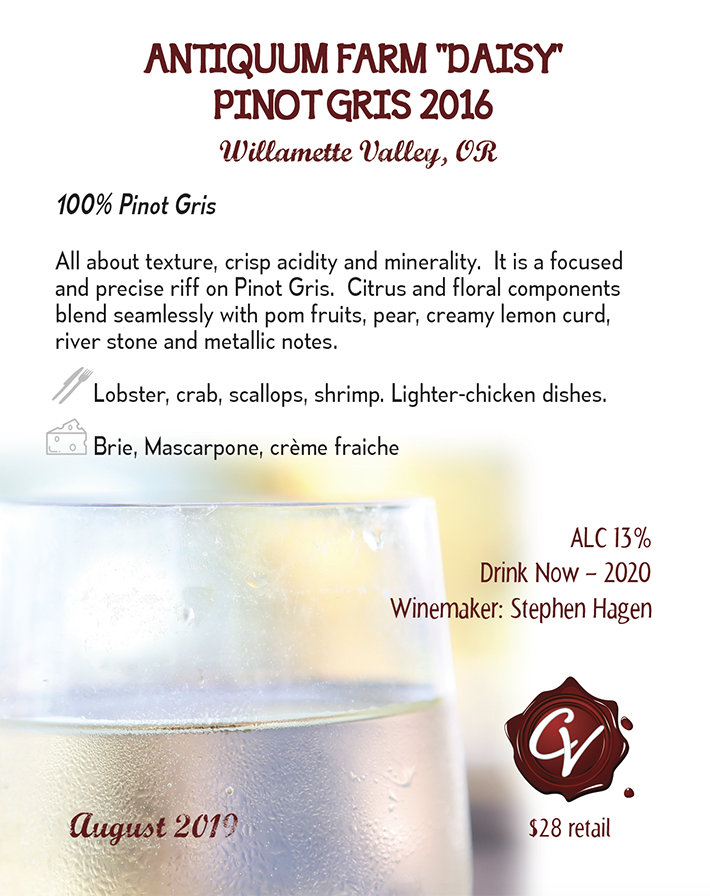 Antiquum Farm DAISY Pinot Gris