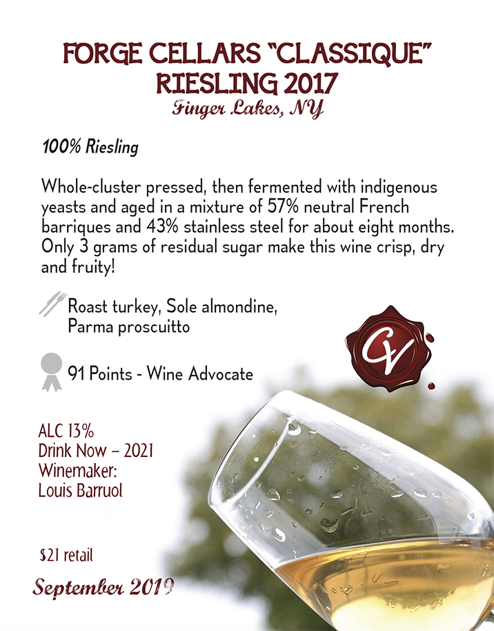 "Forge Cellars ""Classique"" Riesling"
