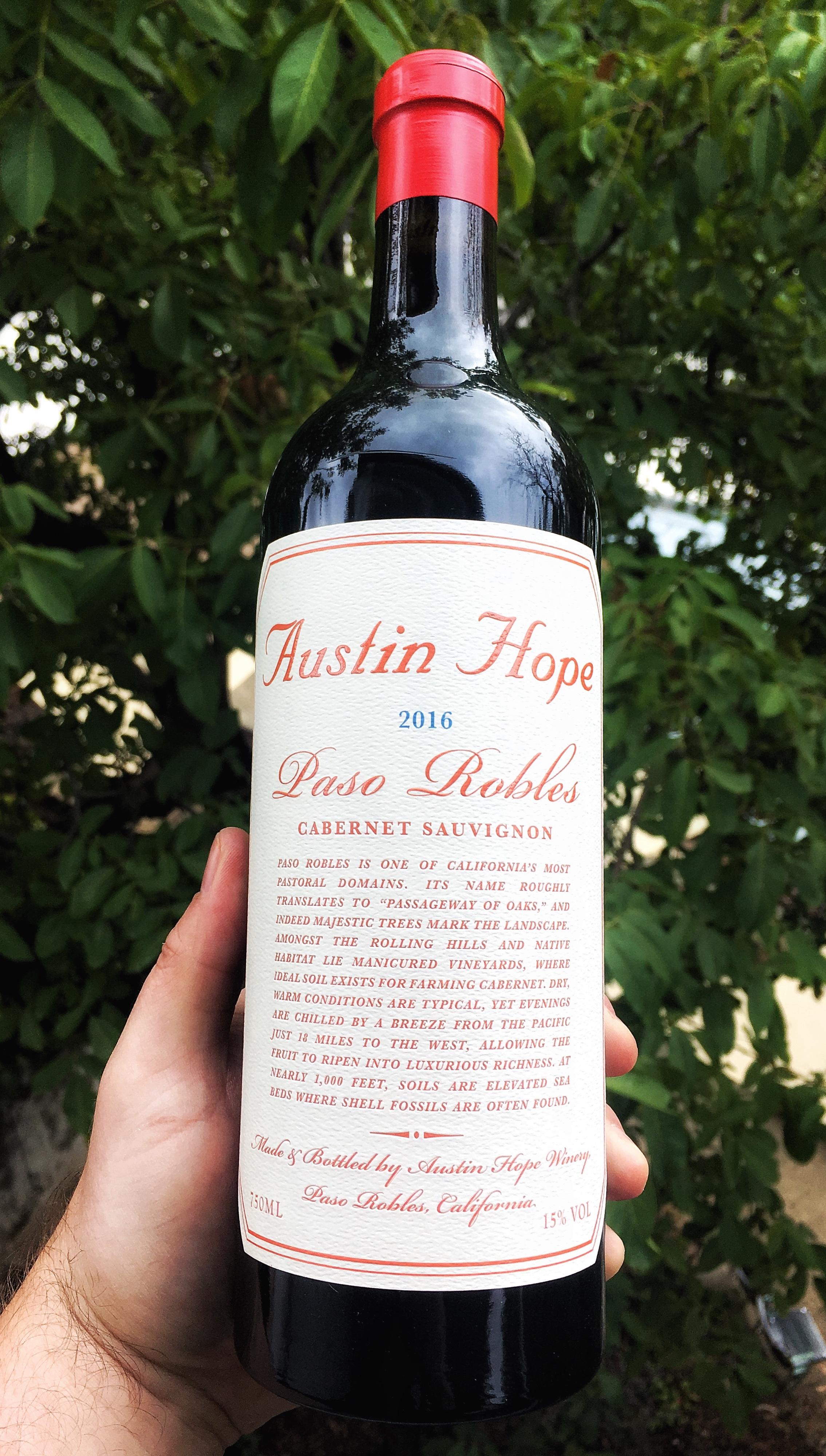 Buy Austin Hope Cabernet Sauvignon 2016 Paso Robles Ca Wine
