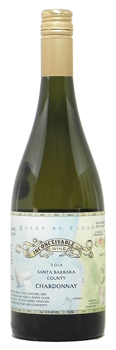 "2014 Inconceivable ""Queen of Tides"" Chardonnay $24.95"