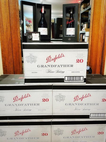 """PENFOLDS """"Grandfather"""" wine cases"""