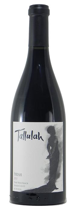"""2010 Tallulah """"Shake Ridge"""" Syrah"""