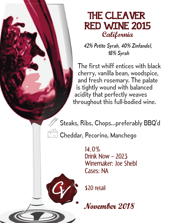 The Cleaver Red Wine 2015