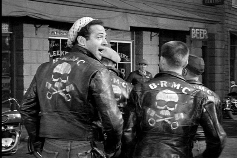 A still from the 1953 movie, Wild Ones starring Marlon Brandon, helped America understand how much fun it could be to join a fraternal organization on two wheels.